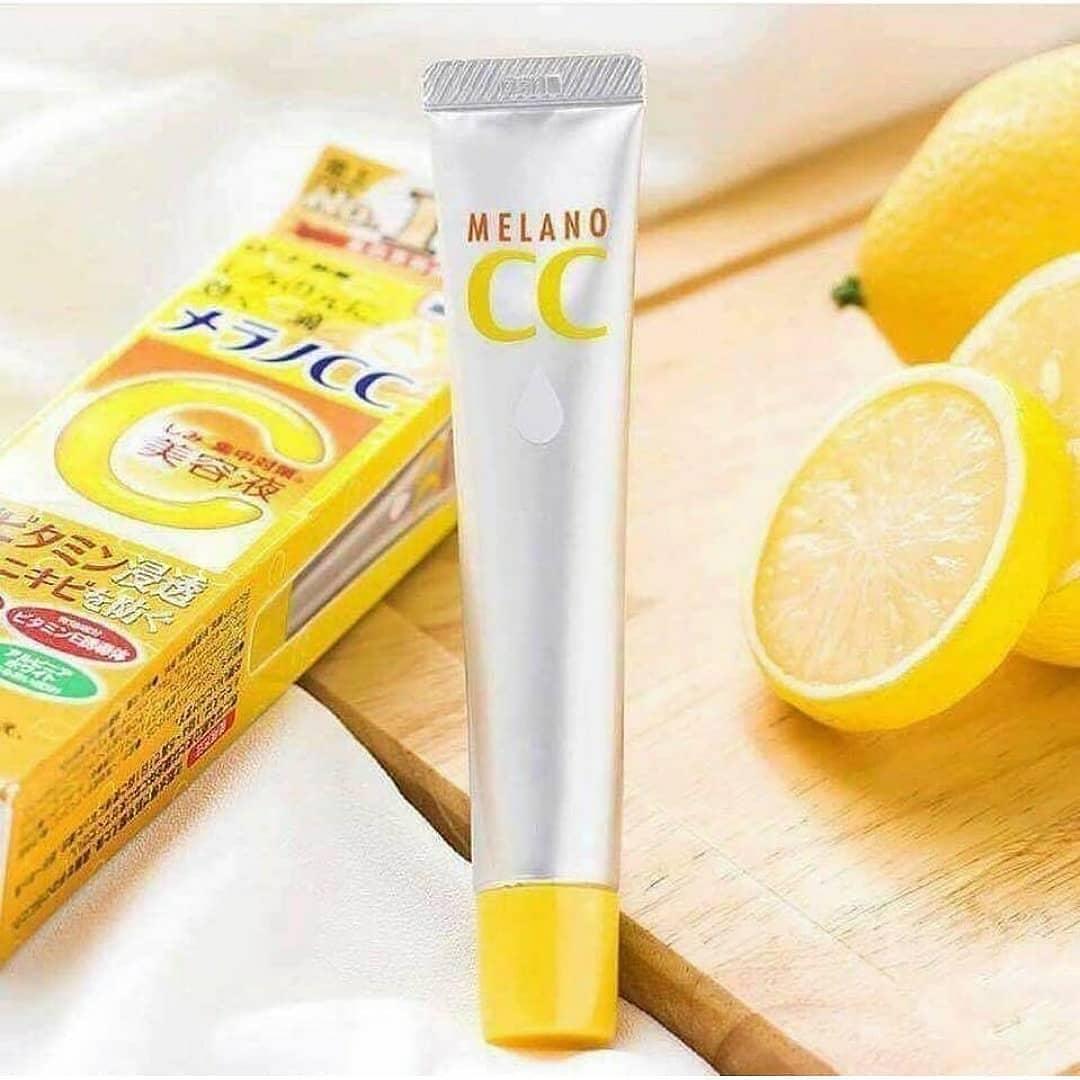 Kết quả hình ảnh cho Serum Vitamin C Melano CC Rohto 20m