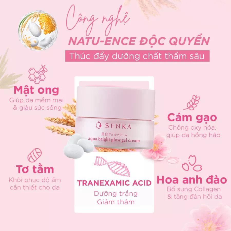 SENKA, Kem Dưỡng Trắng Da Ban Đêm Senka White Beauty Glow Gel Cream 50g |  Watsons Vietnam