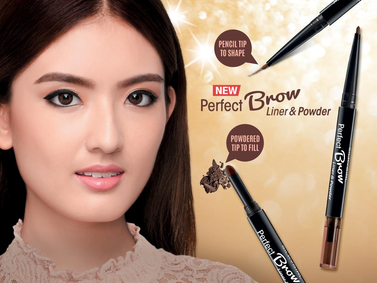 SILKYGIRL, Chì Định Hình Mày Silkygirl Perfect Brow Liner & Powder - 02  Dark Brown 0.6g | Watsons Vietnam