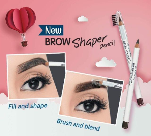 SILKYGIRL, Chì Mày Kèm Chổi Silkygirl Brow Shaper Pencil 1.14 #01 Grey |  Watsons Vietnam