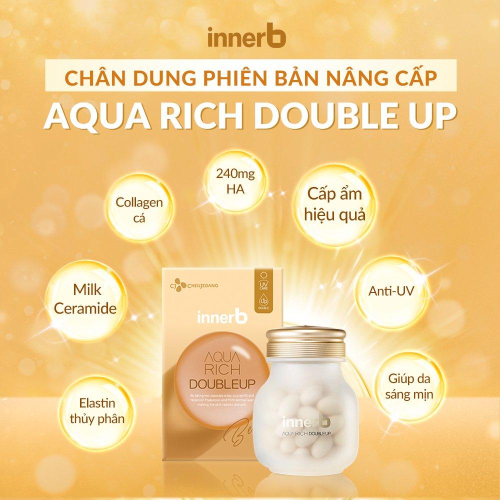 INNERB, Thực Phẩm Bảo Vệ Sức Khỏe InnerB Aqua Rich Doubleup Cấp Ẩm Hỗ Trợ  Sáng Mịn Bảo Vệ Da 56 Viên 33.6g | Watsons Vietnam