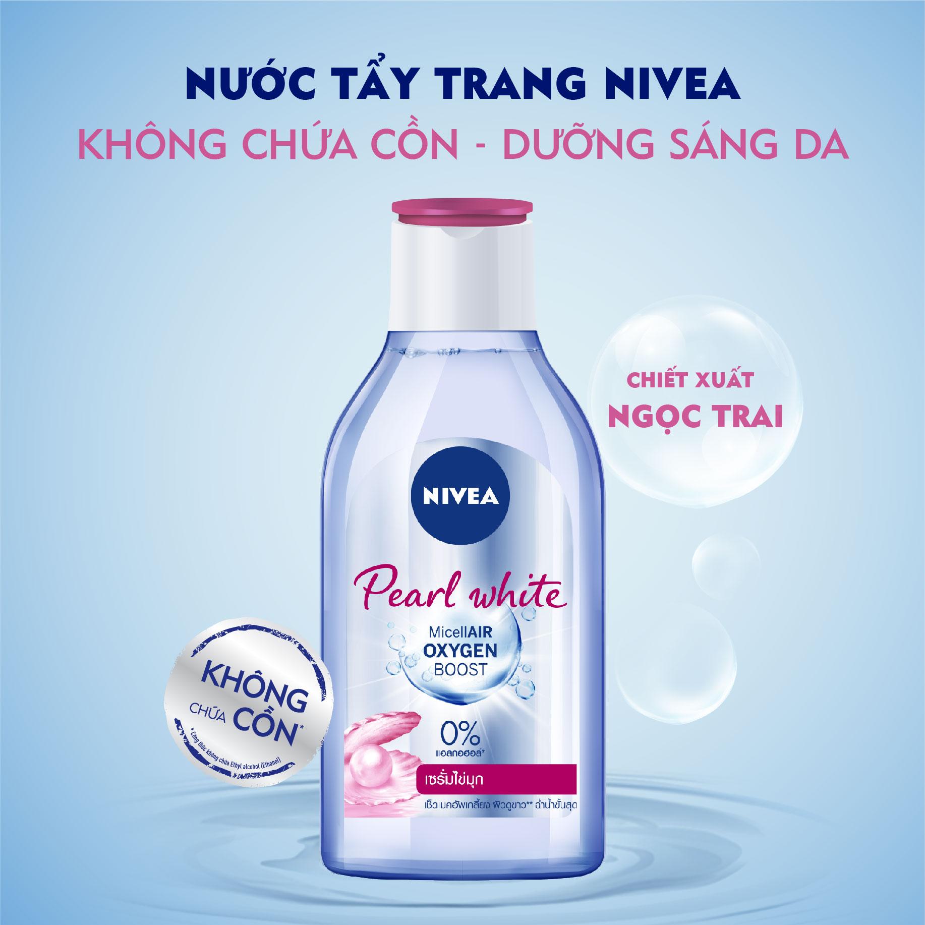 NIVEA, Nước Tẩy Trang Nivea Pearl White Tính Chất Ngọc Trai Sáng Da Dành  Cho Da Thường Và Khô 400ml   Watsons Vietnam