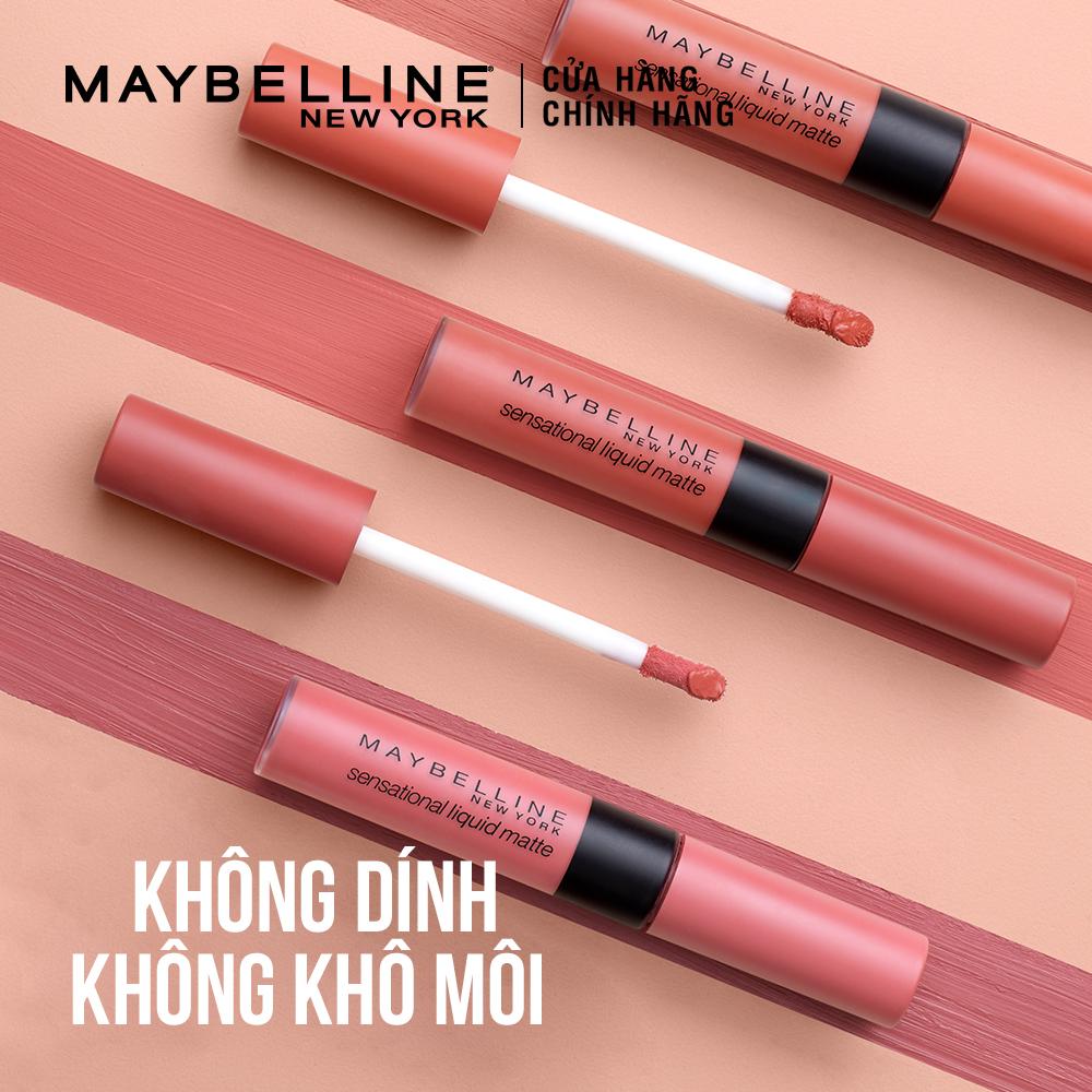 MAYBELLINE NEW YORK, Son Kem Lì Nhẹ Môi Maybelline New York Sensational  Liquid Matte 7ml .# Nu08 Nude Shot Nâu Tây | Watsons Vietnam