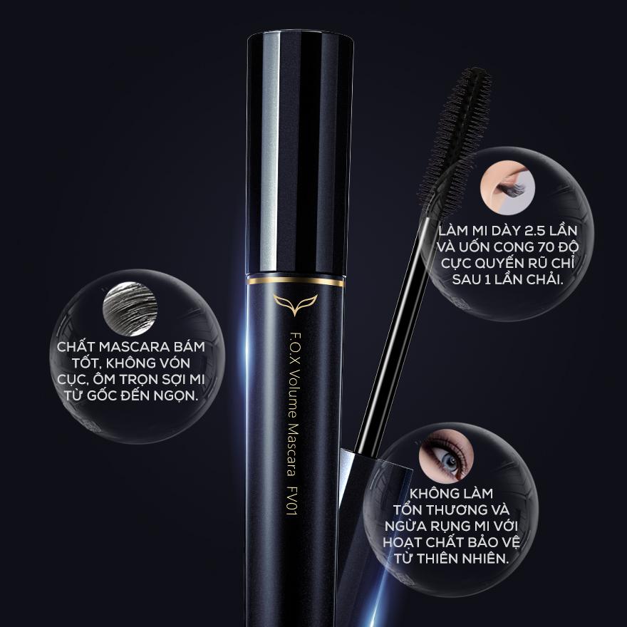 F.O.X, Combo Mascara F.o.x Volume Siêu Dày Mi ( Mascara .#FV01 8ml +  Eyelash Serum .#FZ01 6.5ml ) | Watsons Vietnam